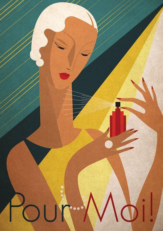 Art Deco Bauhaus Print Poster