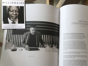 CEO of AllSense, Terry Jacobson, in Billionaire Magazine